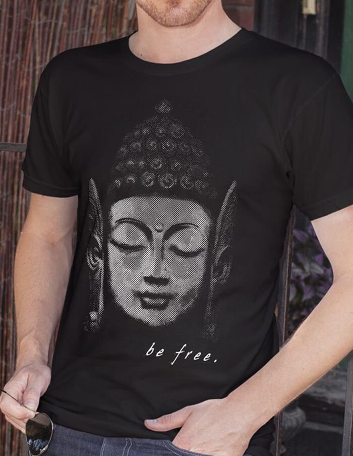 buddha man t-shirt