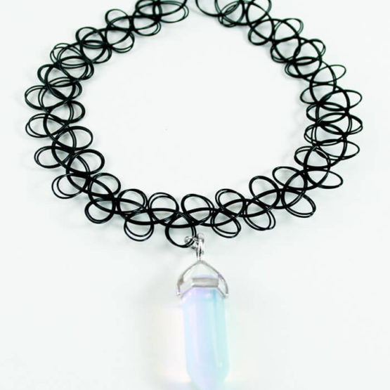 opal point tattoo choker