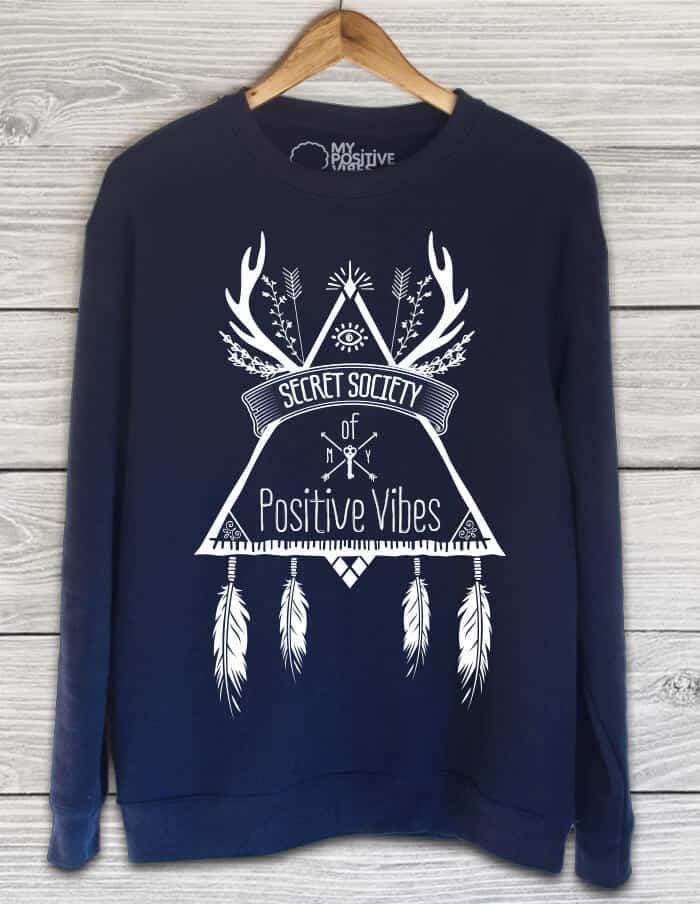 secret society blue sweater