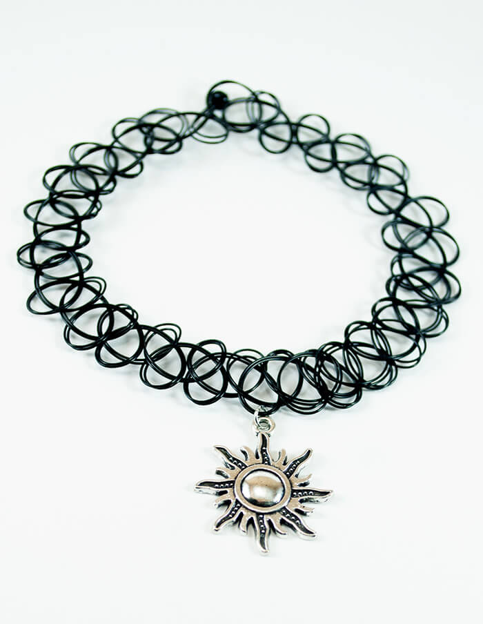 sun tattoo choker