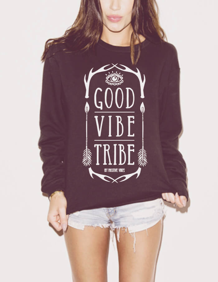 yoga sweatshirt good vibe tribe