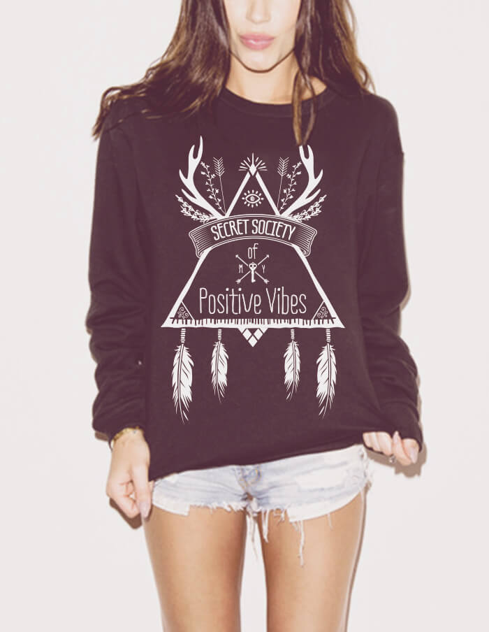 yoga sweatshirt secret society