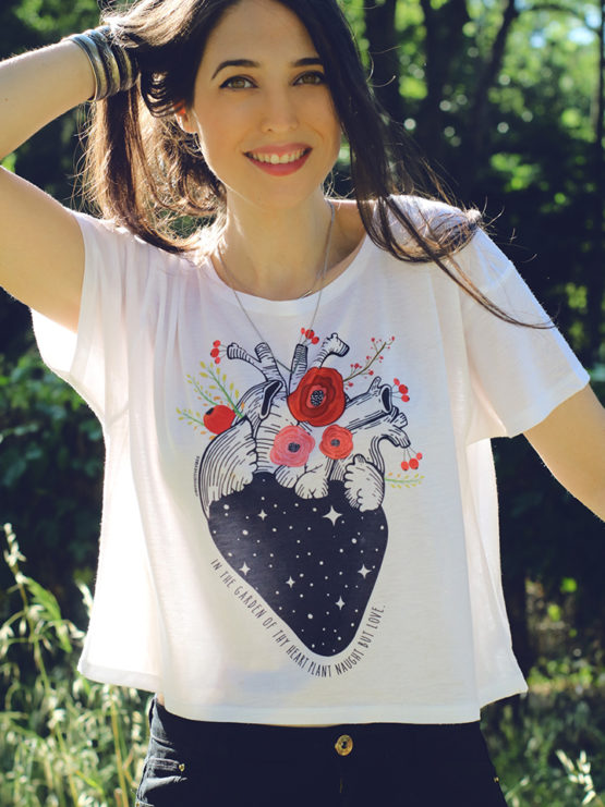 heart-tshirt-with-flowers-crop-top-cropped-tshirt-top-garden-of-thy-heart