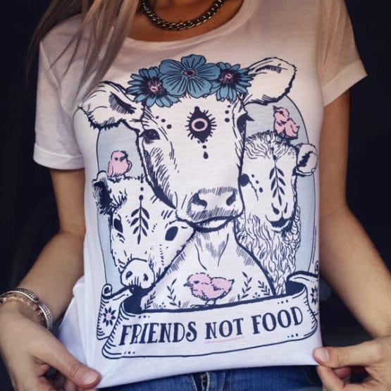 vegan shirt friends not food