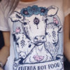 vegan shirt friends not food herbivore plant based white tshirt