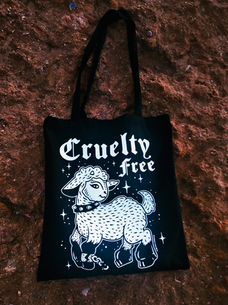 cruelty free tote bag