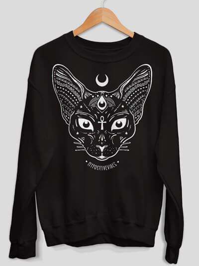 sphynx sweatshirt cat sweater