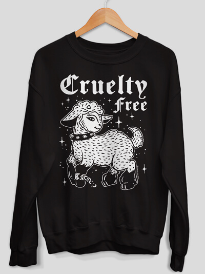 sweatshirt cruelty free vegan sweater