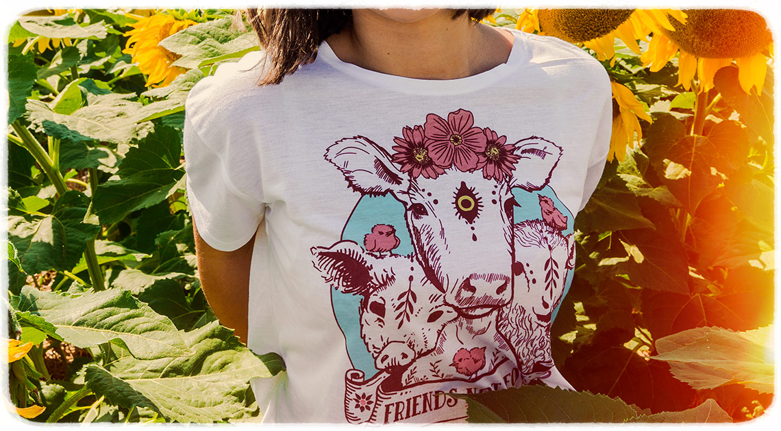 friends not food vegan shirt