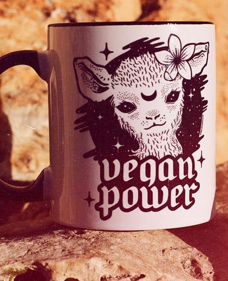 vegan power coffee mug