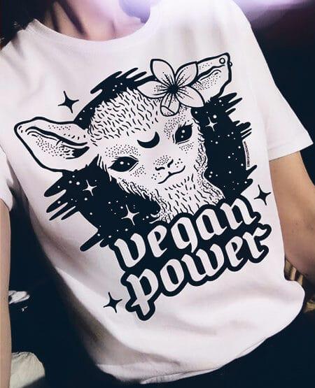 vegan power vegan shirt vegetarian tshirt