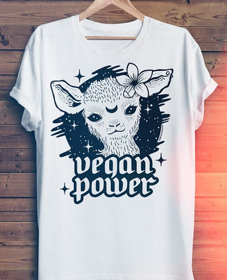 vegan power vegan shirt cute lamb tshirt