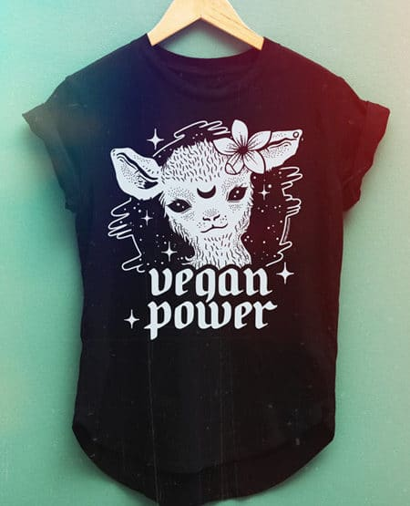 vegan power vegan shirt black